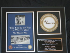 The Story of Rex of White Way's Gold Medal Plaque for Best in Animals/Pets