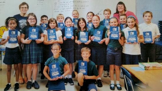 Third Grade Class at Whitefield Academy in Kansas City, MO enjoying their Rex books